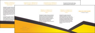 impression depliant 4 volets  8 pages  jaune fond jaune colore MIF58330