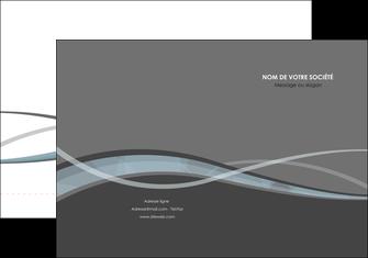 maquette en ligne a personnaliser pochette a rabat gris fond gris vecteur MIF58356