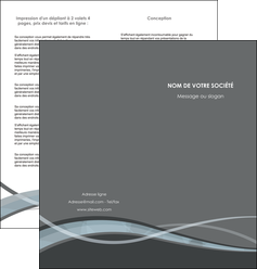 faire depliant 2 volets  4 pages  gris fond gris vecteur MIF58370