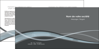 impression depliant 2 volets  4 pages  gris fond gris vecteur MIF58372