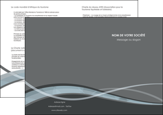 imprimerie depliant 2 volets  4 pages  gris fond gris vecteur MIF58382