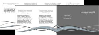 modele depliant 4 volets  8 pages  gris fond gris vecteur MIF58390