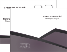 impression carte de visite violet noir courbes MIF58402