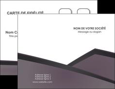 impression carte de visite violet noir courbes MLIG58402