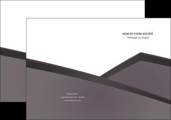 faire modele a imprimer pochette a rabat violet noir courbes MIF58406