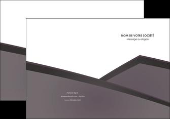 impression pochette a rabat violet noir courbes MIF58408