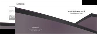 realiser depliant 2 volets  4 pages  violet noir courbes MLIG58410