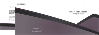 realiser depliant 2 volets  4 pages  violet noir courbes MLGI58410