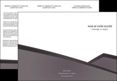 maquette en ligne a personnaliser depliant 3 volets  6 pages  violet noir courbes MLIG58420