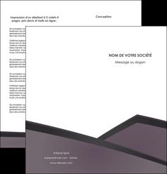 modele en ligne depliant 2 volets  4 pages  violet noir courbes MIF58422