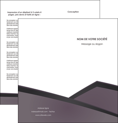 modele en ligne depliant 2 volets  4 pages  violet noir courbes MLGI58422