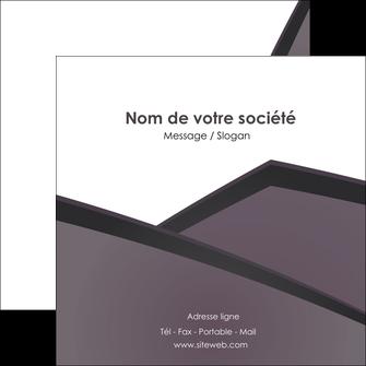 imprimer flyers violet noir courbes MLIG58428