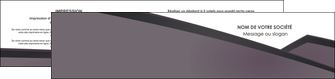 impression depliant 2 volets  4 pages  violet noir courbes MLIG58430