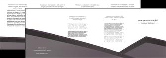 cree depliant 4 volets  8 pages  violet noir courbes MIF58436