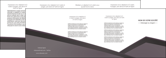 cree depliant 4 volets  8 pages  violet noir courbes MLIG58436
