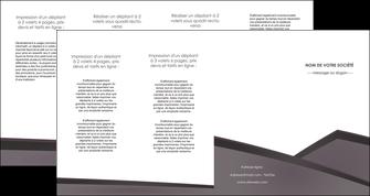 creation graphique en ligne depliant 4 volets  8 pages  violet noir courbes MIF58440