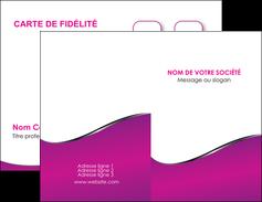 imprimer carte de visite violet fond violet colore MLIG58638
