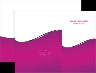 imprimer pochette a rabat violet fond violet colore MIF58640