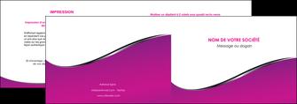 faire modele a imprimer depliant 2 volets  4 pages  violet fond violet colore MLIG58644