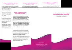 cree depliant 3 volets  6 pages  violet fond violet colore MLGI58654