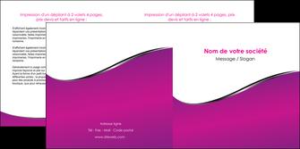 cree depliant 2 volets  4 pages  violet fond violet colore MLIG58658