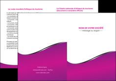 modele depliant 2 volets  4 pages  violet fond violet colore MLIG58668