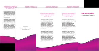 imprimer depliant 4 volets  8 pages  violet fond violet colore MIF58676
