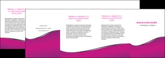 exemple depliant 4 volets  8 pages  violet fond violet colore MLIG58678