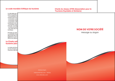modele depliant 2 volets  4 pages  rouge rouille colore MLIG58696