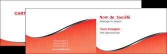 faire carte de visite rouge rouille colore MLIG58698
