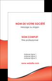 creer modele en ligne carte de visite rouge rouille colore MLGI58700