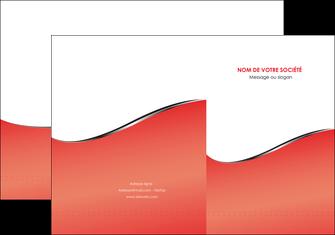 imprimerie pochette a rabat rouge rouille colore MLGI58702