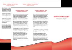 imprimerie depliant 3 volets  6 pages  rouge rouille colore MLIG58716