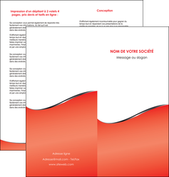 creation graphique en ligne depliant 2 volets  4 pages  rouge rouille colore MIF58718