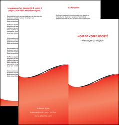 creation graphique en ligne depliant 2 volets  4 pages  rouge rouille colore MLIG58718