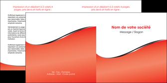 personnaliser modele de depliant 2 volets  4 pages  rouge rouille colore MLIG58720