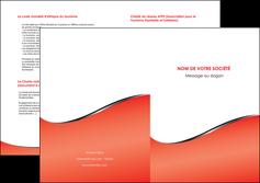 personnaliser maquette depliant 2 volets  4 pages  rouge rouille colore MLGI58730