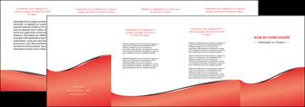 personnaliser modele de depliant 4 volets  8 pages  rouge rouille colore MLIG58732