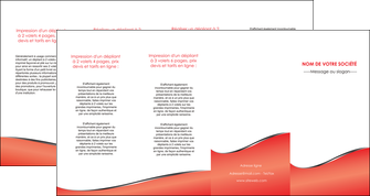personnaliser modele de depliant 4 volets  8 pages  rouge rouille colore MLIG58736