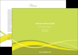 realiser set de table espaces verts vert vert pastel fond vert MLGI58744