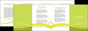 imprimerie depliant 4 volets  8 pages  espaces verts vert vert pastel fond vert MIF58746