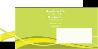 maquette en ligne a personnaliser enveloppe espaces verts vert vert pastel fond vert MIF58750