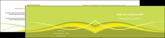 personnaliser modele de depliant 2 volets  4 pages  espaces verts vert vert pastel fond vert MIF58752