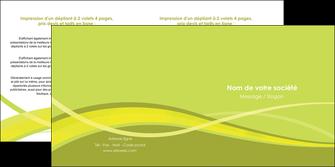 imprimerie depliant 2 volets  4 pages  espaces verts vert vert pastel fond vert MIF58758
