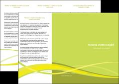 impression depliant 3 volets  6 pages  espaces verts vert vert pastel fond vert MIF58762