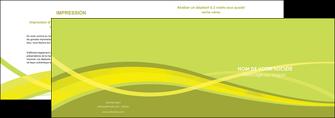 faire depliant 2 volets  4 pages  espaces verts vert vert pastel fond vert MIF58770