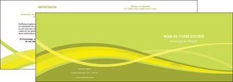 creer modele en ligne depliant 2 volets  4 pages  espaces verts vert vert pastel fond vert MIF58772