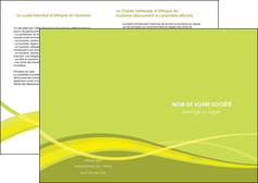 creer modele en ligne depliant 2 volets  4 pages  espaces verts vert vert pastel fond vert MIF58782