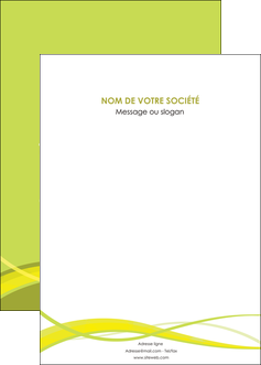 maquette en ligne a personnaliser affiche espaces verts vert vert pastel fond vert MIF58788