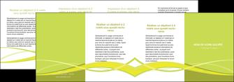 imprimer depliant 4 volets  8 pages  espaces verts vert vert pastel fond vert MIF58792